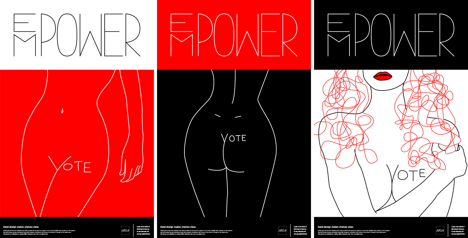 J.Björk: AIGA Get Out the Vote 2008 posters